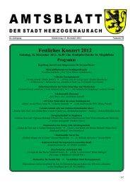 Festliches Konzert 2012 - Stadt Herzogenaurach