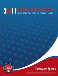 2 11 national pirc conference - National PIRC Coordination Center