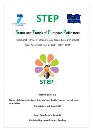 Status and Trends of European Pollinators - STEP Project