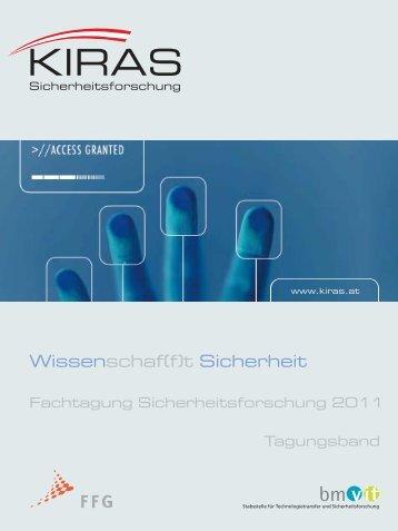 Tagungsband - KIRAS Sicherheitsforschung