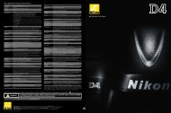 Nikon Digital SLR Camera D4 Specifications - Imaging Products ...