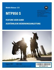 MTP850 S Feature User Guide - EN, DE - HERTZ Elektronik GmbH