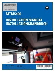 MTM5400 Installation Manual –  EN,DE - HERTZ Elektronik GmbH