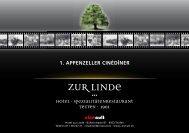 Event-Broschüre zum Download als PDF - Hotel zur Linde