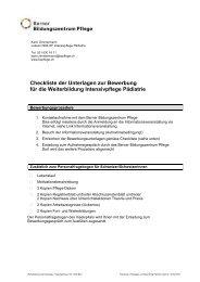 Checkliste der Unterlagen zur Bewerbung für die Weiterbildung ...