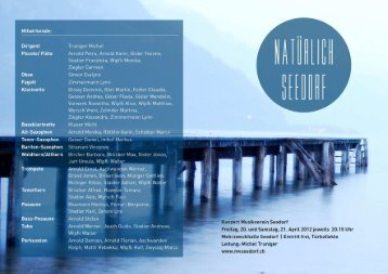 Programm 2012 - Musikverein Seedorf