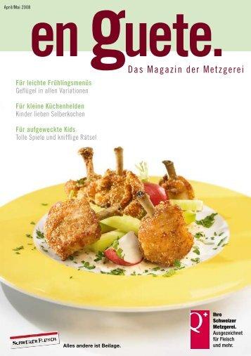 Das Magazin der Metzgerei - Schweizer Fleisch-Fachverband SFF