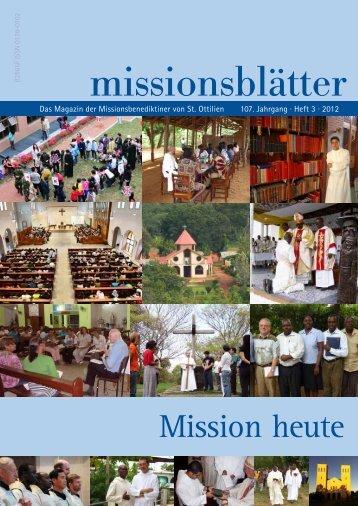 2012/3: Mission heute - Erzabtei St. Ottilien