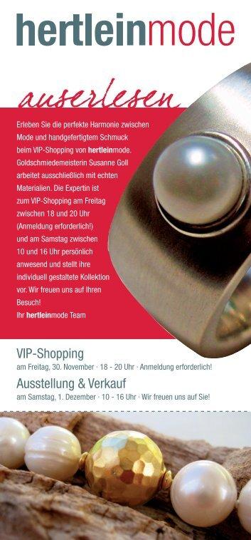VIP-Shopping Ausstellung & Verkauf