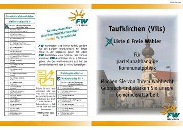 Freie Wähler Taufkirchen (Vils)