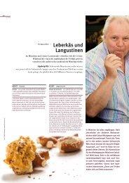 Genussreise | Leberkäs und Langustinen - Ingeborg Pils