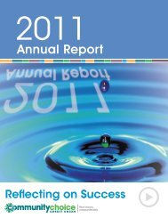 2011 Annual Report - Community Choice Credit Union