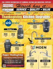 Thanksgiving Kitchen Upgrades -  Hirsch.com