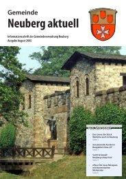 NEUBERG aktuell, Ausgabe 08/2005 - Gemeinde Neuberg