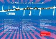 Die Aktionen in der Hauptstraße: - VHG-Kandel