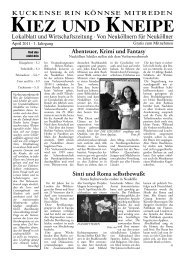 April - Kiez und Kneipe Neukölln