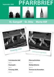 PFARRBRIEF September 2008 - St. Gangolf