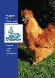 Frühjahr 2012: Freude - Evangelische Kirchengemeinde Spaichingen