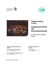 Ergebnisprotokoll der Zukunftswerkstatt - Lindau