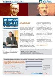 Mitgliederzeitung 2012/2 - VR-Bank Erlangen-Höchstadt ...