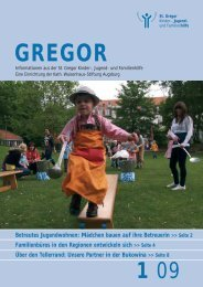 Gregor 1.09_fin korr.qxd Kopie - St. Gregor Jugendhilfe