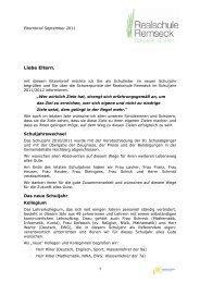 Elternbrief September 2011 - Realschule Remseck