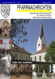 ++Pfarrnachrichten Nr. 81 von Juli bis ... - St. Peter und Paul