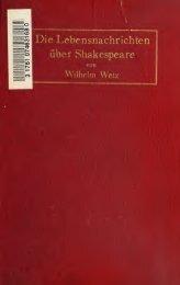 Die Lebensnachrichten über Shakespeare mit dem ... - Index of