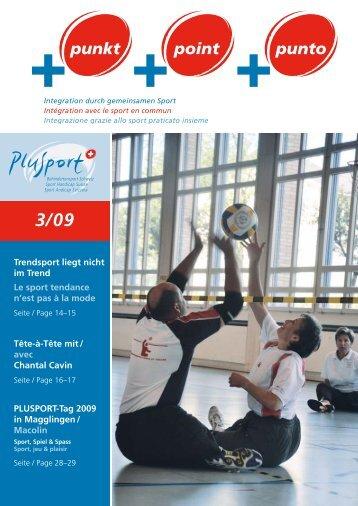 +punkt 3/2009 (pdf, 2.9MB) - PLUSPORT Behindertensport Schweiz