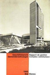 Geschäftsbericht I Rapport de gestion - Stadt Biel