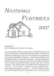 Rundbrief 2007 - Naatsaku