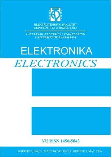 elektronika electronics - Electronics Journal - Elektrotehnicki fakultet