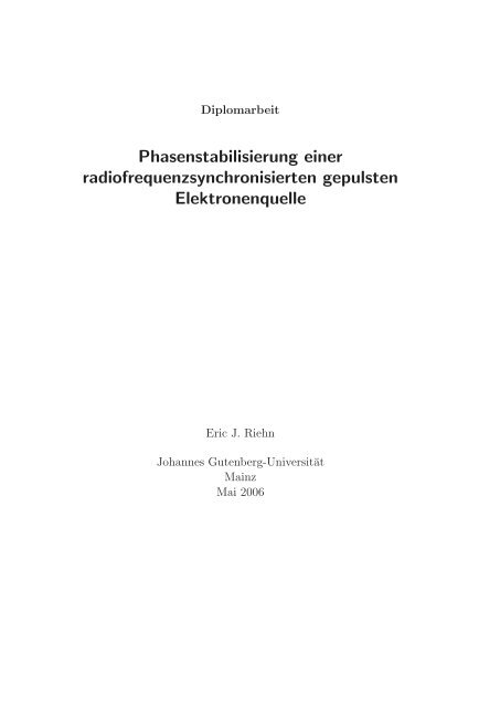 2 Theoretische Grundlagen - Institut für Kernphysik - Johannes ...