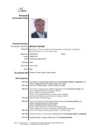 Europass Curriculum Vitae - Sapienza