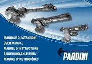 manuale di istruzioni user manual manuel d'instructions - Pardini Armi