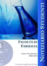 FACOLTÀ DI FARMACIA Anno Accademico 2010/2011