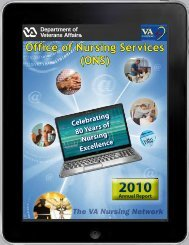 ONS Annual Report 2010 - US Department of Veterans Affairs