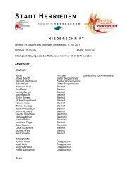 Protokoll vom 6. Juli 2011 - Herrieden