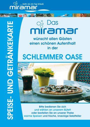 SPEISE- UND GETRÄNKEKARTE - Miramar