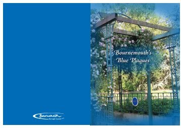 Blue Plaque booklet and map - Bournemouth Borough Council