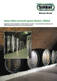 Guter Wein braucht guten  Boden: Silikal - Hitt GmbH