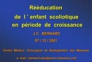 Rééducation de l ' enfant scoliotique en période de ... - ANMSR