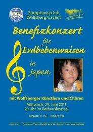 Benefizkonzert für Erdbebenwaisen in Japan mit Wolfsberger ...