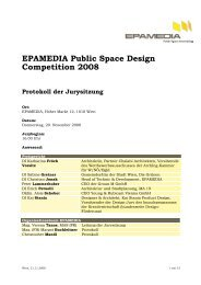 Protokoll der Sitzung des Preisgerichts vom 20.11.2008