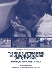 The Multi Cluster/Sector Initial Rapid Assessment (MIRA - UNICEF ...