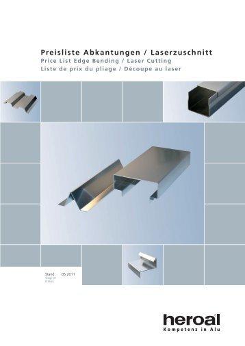 Katalog Preisliste Abkantungen und Laserzuschnitt_F0102 ... - Heroal