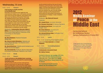 Seminar programme - United Nations Information Centres