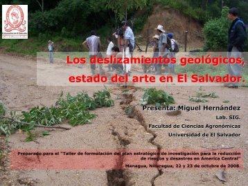 Los deslizamientos geológicos, estado del arte en El - Facultad de ...