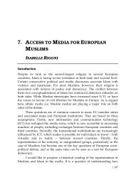 7. access to media for european muslims isabelle rigoni