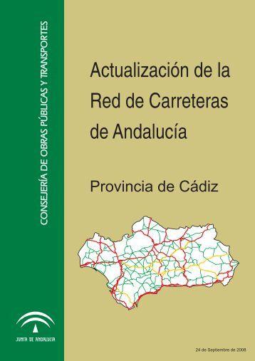 Red de Carreteras de la provincia de Cádiz - Junta de Andalucía